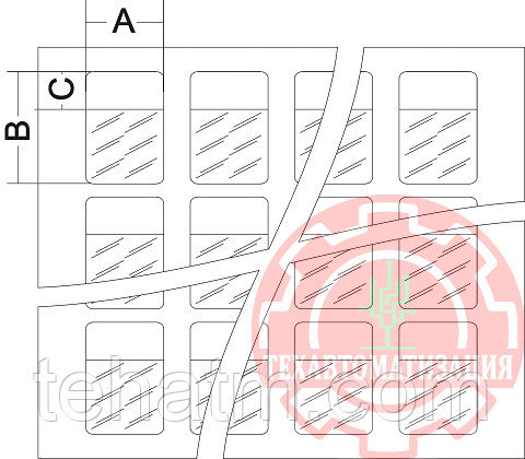 TTC.41.0403 Самоламинирующиеся маркеры в рулонах для диаметра до 7.5 мм (20,3х36,5) в упаковке 5000 шт белый