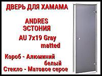 Дверь для турецкой бани Andres Au Gray (Matted)