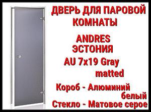 Дверь для паровой комнаты Andres Au Gray (matted)