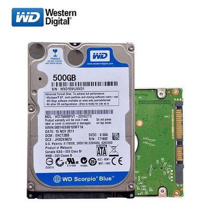 """Жесткий диск для ноутбука 500Gb WD Blue 5400rpm, 2.5"""", 6.0 Gb/s, 16M cache, фото 2"""