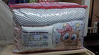 Набор детского постельного белья из 17 предметов(для кроватки-манежа),расцветки уточняем, фото 4