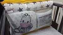 Набор детского постельного белья из 17 предметов(для кроватки-манежа),расцветки уточняем, фото 2