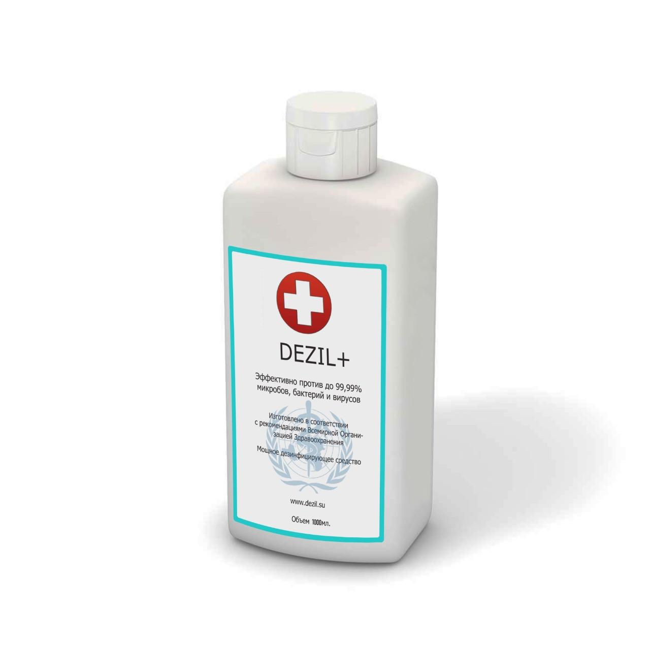 Средство дезинфицирующее Dezil + 1 литр для антисептической обработки рук и поверхностей