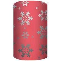 Non-branded Новогодняя упаковочная, металлизированная бумага с лазерной печатью, 70*150 см, красный.