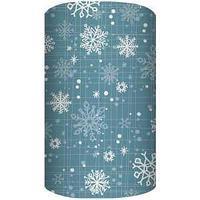 Non-branded Упаковочная бумага немелованная, Узорные снежинки, 70*100 см.