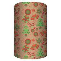 Non-branded Упаковочная крафт бумага, Новогоднии колокольчики, 70*150 см.