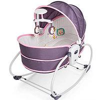 Люлька -баунсер Mastela 5 в 1 для новорожденных серо-розовый, фото 1