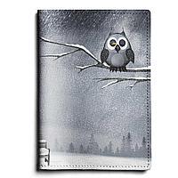 Обложка для паспорта, PAS1 «Owl & bird»