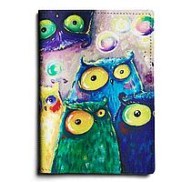 Обложка для паспорта, PAS1 «Many owls»