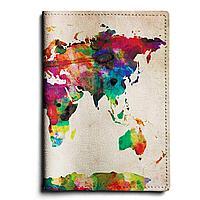 Обложка для паспорта, PAS1 «World map»