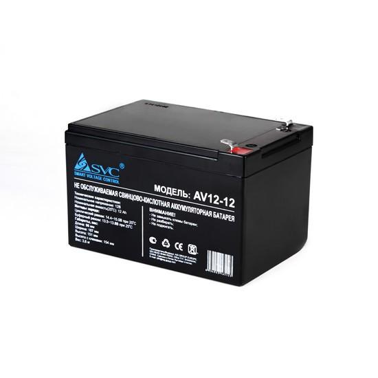 SVC AV(VP)12-12 Батарея Свинцово-кислотная 12В 12 Ач, Размер в мм.: 150*98*95
