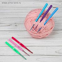 Набор крючков для вязания, d = 2,5-5 мм, 14 см, 6 шт, цвет МИКС