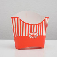 Упаковка для картофеля фри 130 гр, с печатью (комплект из 50 шт.)