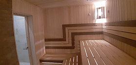 """Финская сауна с парообразователем. Размер = 3,0 х 2,2 х 2,2 м. Адрес: г. Алматы, ЖК """"Mountain Drive"""" 22"""