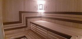 """Финская сауна с парообразователем. Размер = 3,0 х 2,2 х 2,2 м. Адрес: г. Алматы, ЖК """"Mountain Drive"""" 28"""