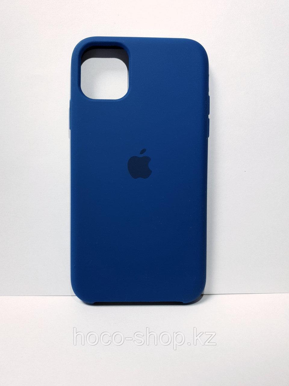 Защитный чехол для iPhone 11 Soft Touch силиконовый, синий