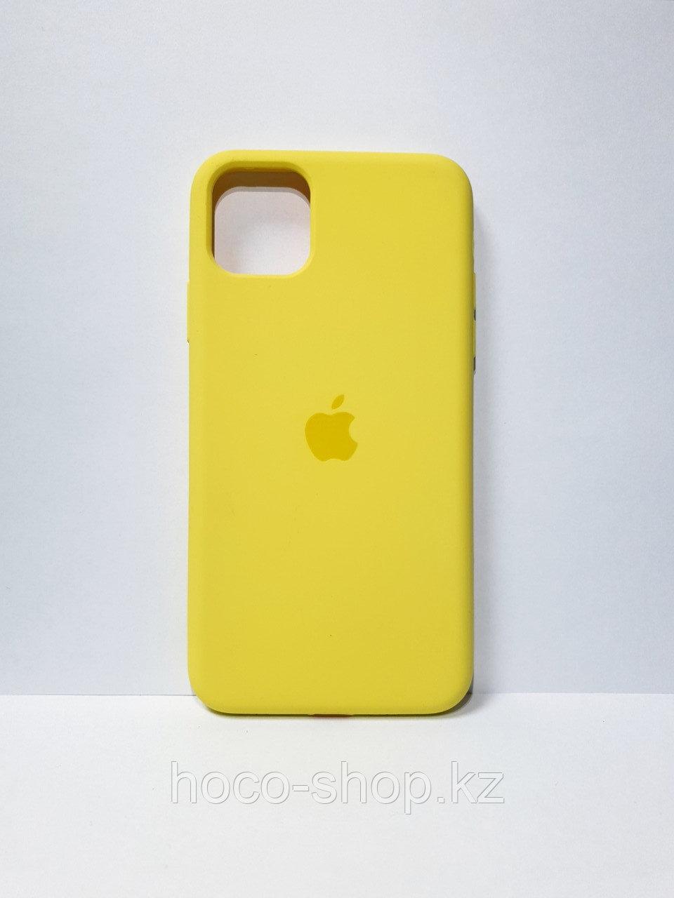 Защитный чехол для iPhone 11 Soft Touch силиконовый, желтый