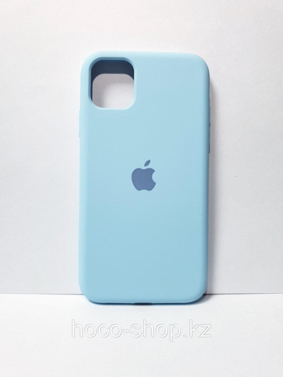 Защитный чехол для iPhone 11 Soft Touch силиконовый, голубой