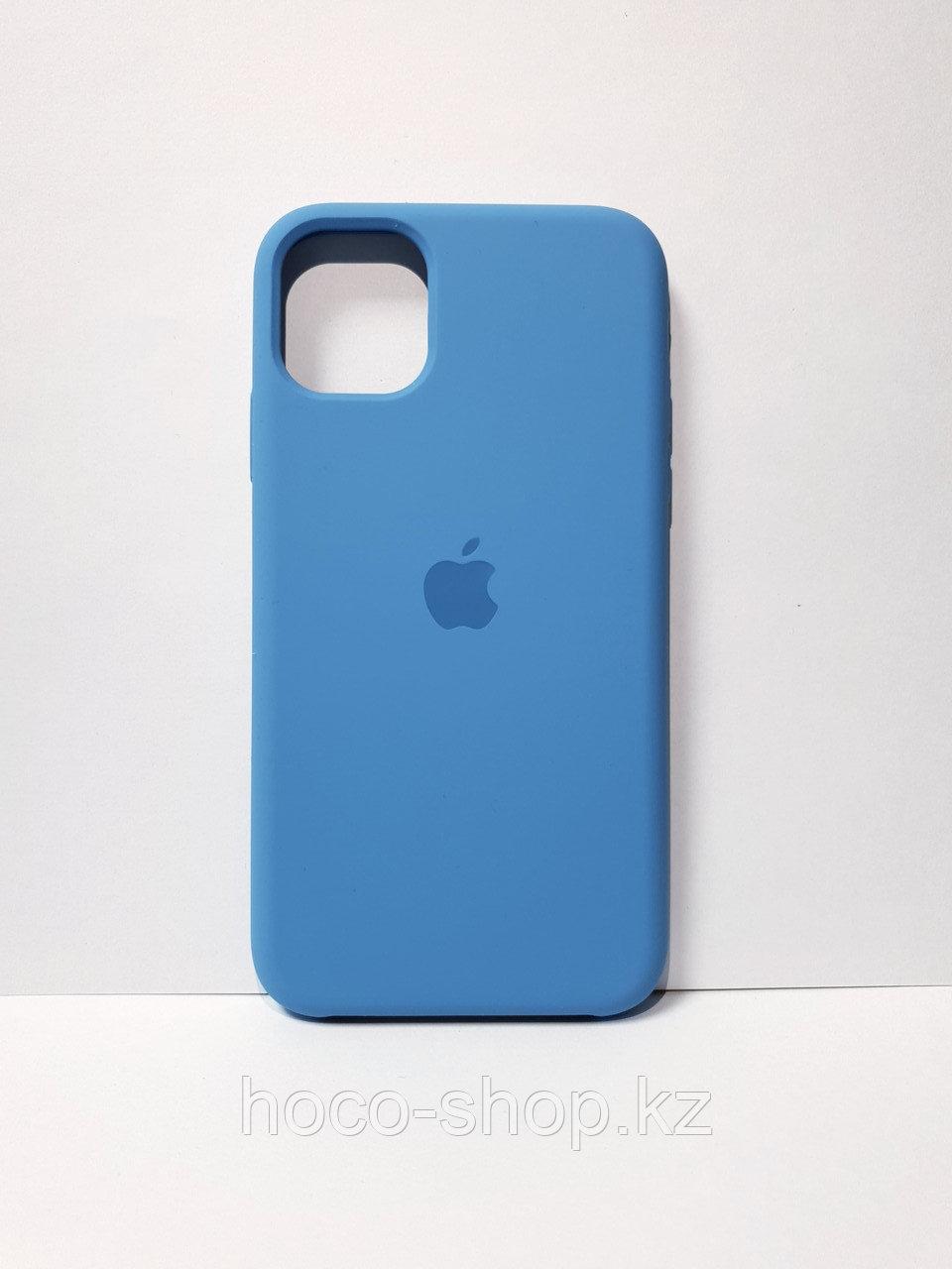 Защитный чехол для iPhone 11 Soft Touch силиконовый, темно-голубой