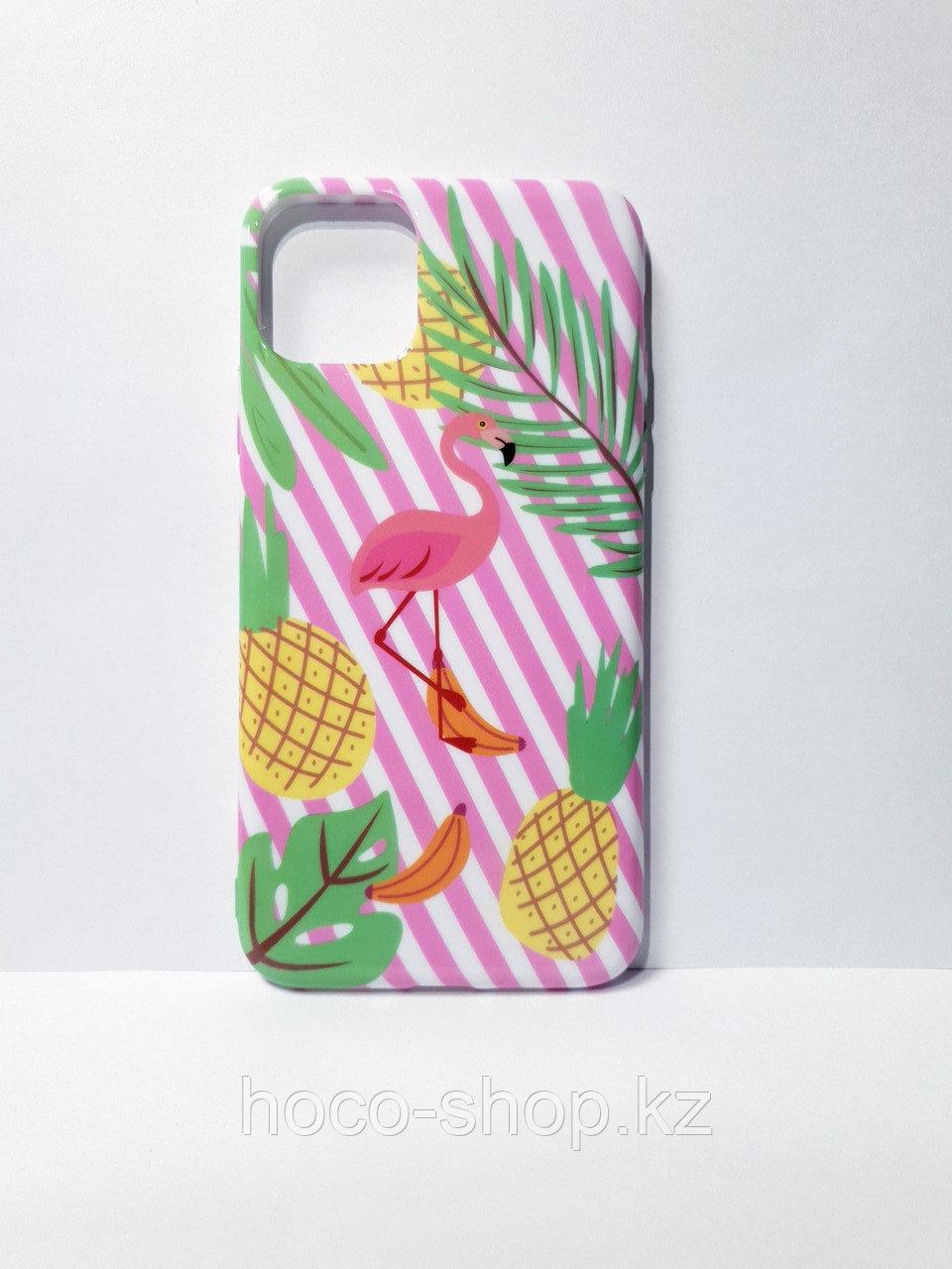 Гелевый защитный чехол для iPhone 11 фламинго