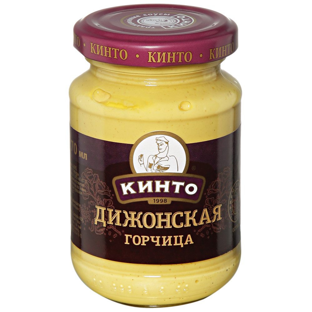 """Горчица""""Дижонская """"Кинто"""" 170 мл"""