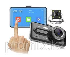 Видеорегистратор с камерой заднего вида Dash cam  T686 TP