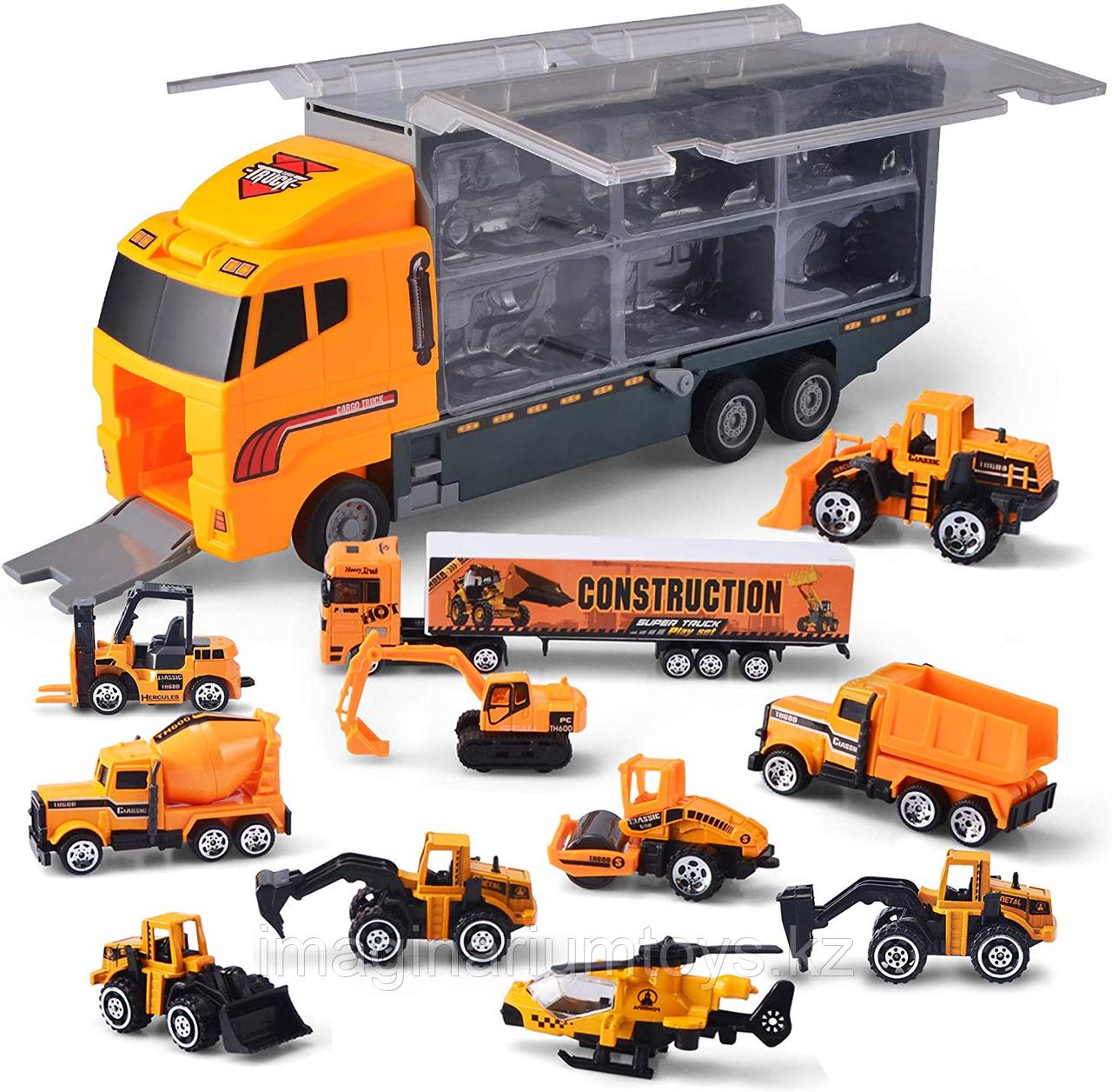 Большой Автовоз со строительными машинами