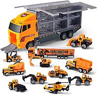 Большой Автовоз со строительными машинами, фото 1