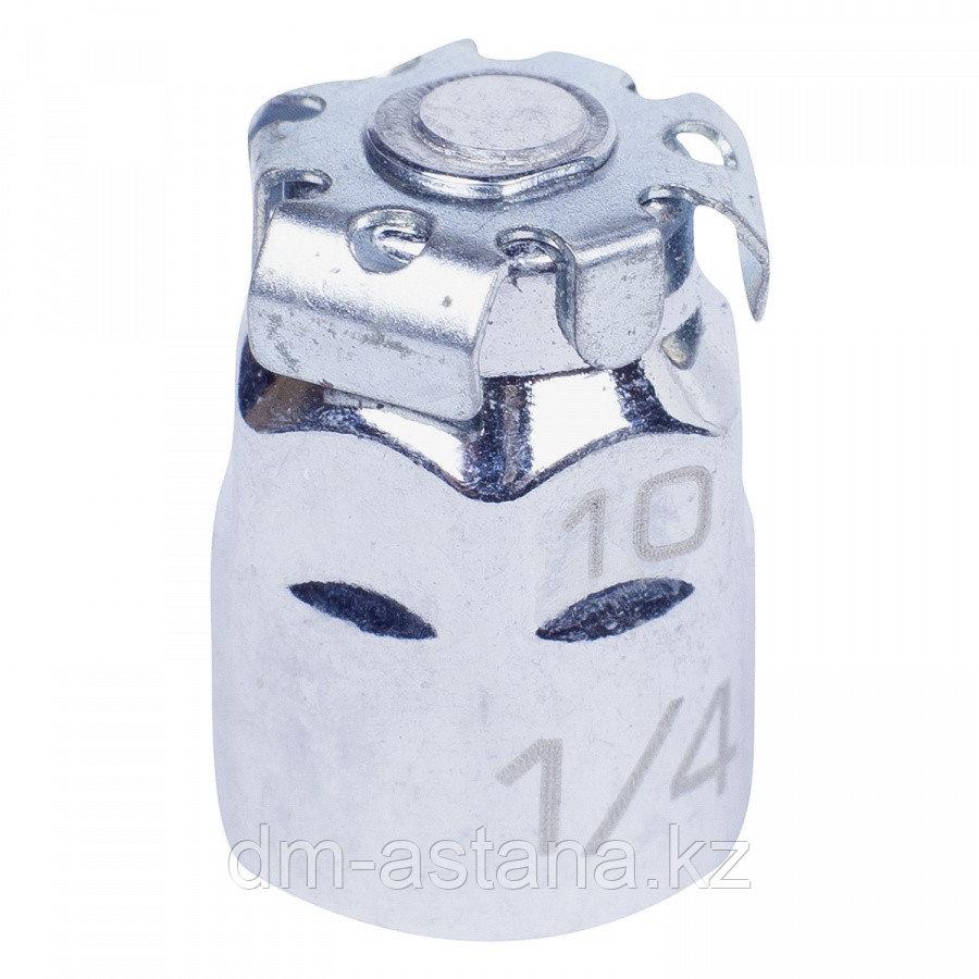 """KING TONY Переходник для вставок (бит) 1/4"""" под ключ 10 мм KING TONY 373202H"""
