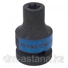 "KING TONY Головка торцевая ударная TORX Е-стандарт 1/2"", E10, L = 38 мм KING TONY 457510M"