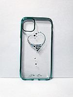 Прозрачный чехол со стразами iPhone 11