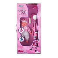 Кукольная коляска+кукла Fei li toys W.13, 37,5*30*62 cm розовая