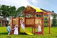 Детская площадка Савушка BABY-7(play), игрвой домик с крышей, увеличен. балкон, шведская стенка, сетка-лазалка, фото 1