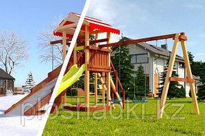 """Детская площадка Савушка """"4 сезона"""" 2 с игровой башней горкой и качелями"""