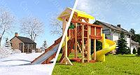 """Детская площадка Савушка """"4 сезона"""" 9, игровая башня, зимняя и обычная горка, винтовая горка, качели, фото 1"""