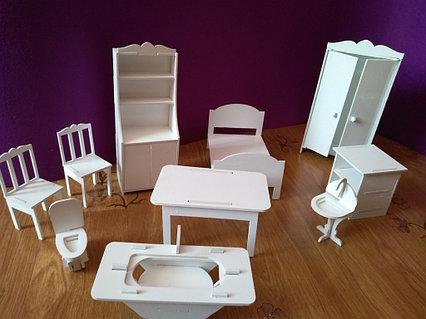 Кукольная мебель (9 предметов)