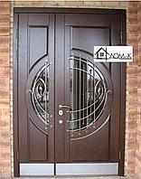 Дверь металлическая со стеклом в Алматы