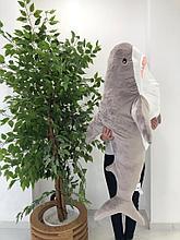Мягкая игрушка акула серая 140см