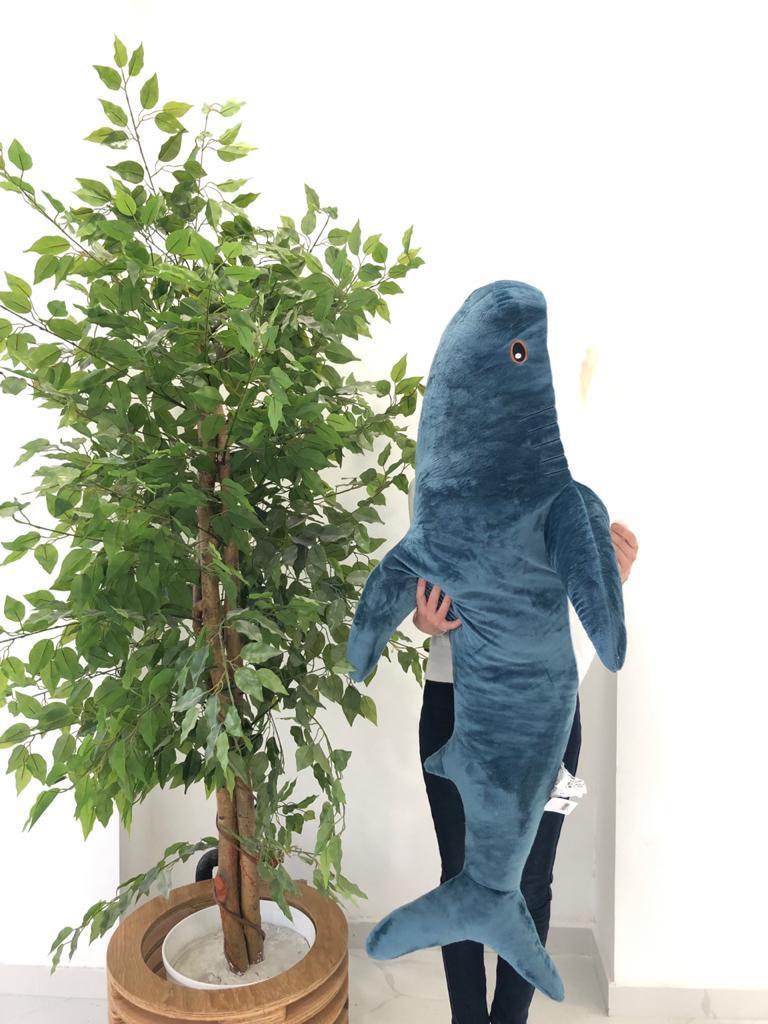 Мягкая игрушка акула синяя 140см