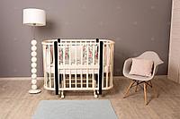 Детская кроватка Incanto Nuvola 3 в 1 слоновая кость/венге, фото 1