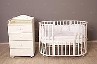 Кроватка детская Incanto Северная Звезда 9 в 1 белый, фото 1