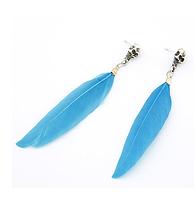"""Серьги """"Голубые перья"""""""