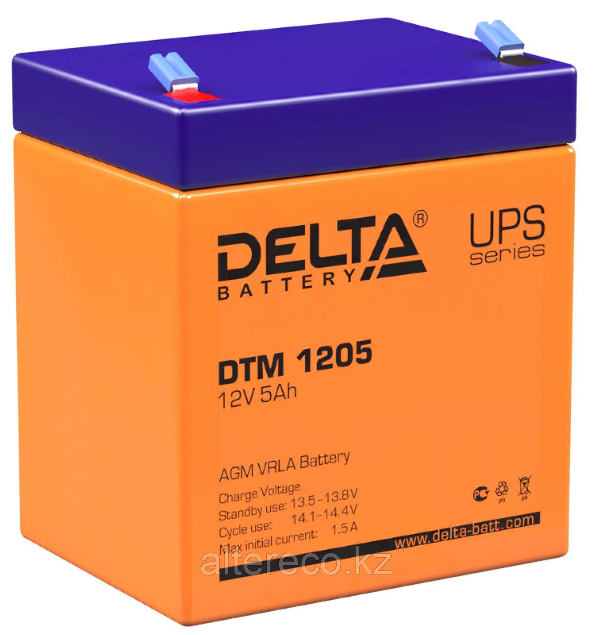 Аккумулятор Delta DTM 1205 (12В, 5Ач)