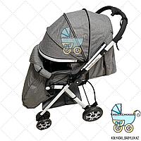 Прогулочная коляска детская с перекидной ручкой Coballe Gray