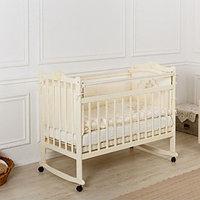 Кровать детская Incanto Pali с мишкой колесо-качалка слоновая кость
