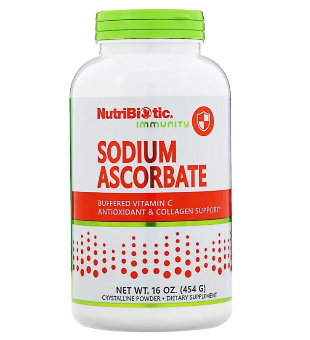 NutriBiotic, Immunity, аскорбат натрия, кристаллический порошок, 454 г (16 унций)