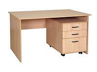 Стол преподавателя корпусной с выкатной тумбой (СТПЛ (т)+ТВ3)