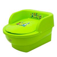 Детский горшок Maltex Трон Мишки и Друзья зеленый, фото 1