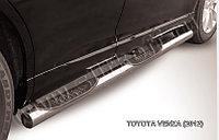 Защита порогов d76 с проступями Toyota Venza (2013)