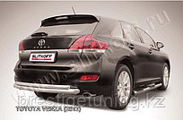 Защита заднего бампера d76+d57 двойная радиусная Toyota Venza (2013)